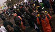 Les étudiants de la Faculté de Géographie dans les rues