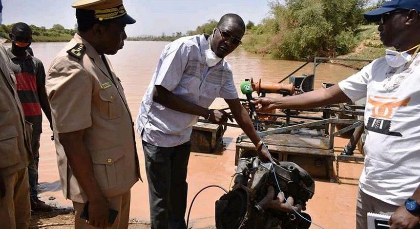 LUTTE SANS MERCI CONTRE LES DRAGUES SUR LE FALEME : Le Ministre Housseïni Amion GUINDO prend ses responsabilités !