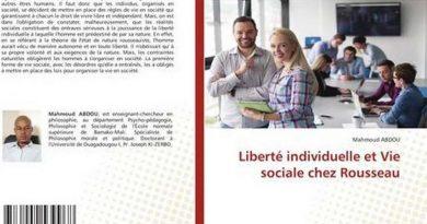 Livre : «Liberté individuelle et Vie sociale chez Rousseau» ou le paradoxe de la vie en commun